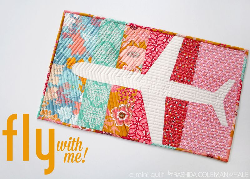 Fat Quarter Gang - Fly With Me mini quilt by I Heart Linen