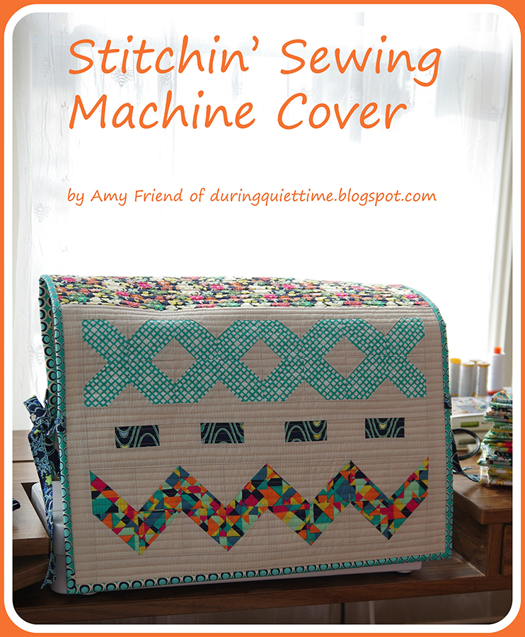 Book Cover Sewing Quarter ~ Fat quarter gang stitchin sewing machine cover by