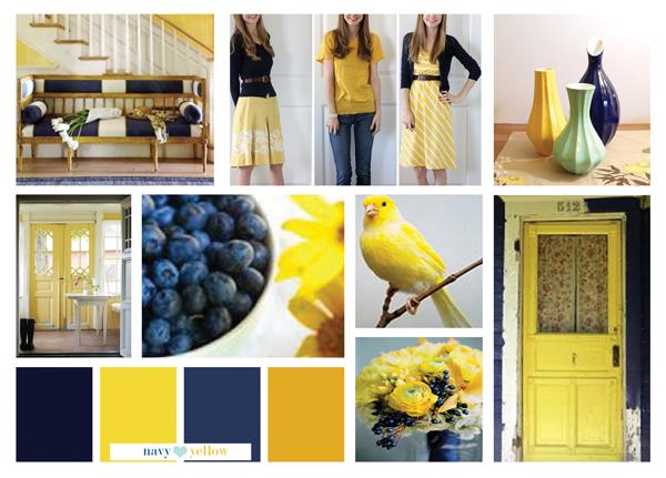 Say Hello To Navy And Yellow Art Gallery Fabrics The