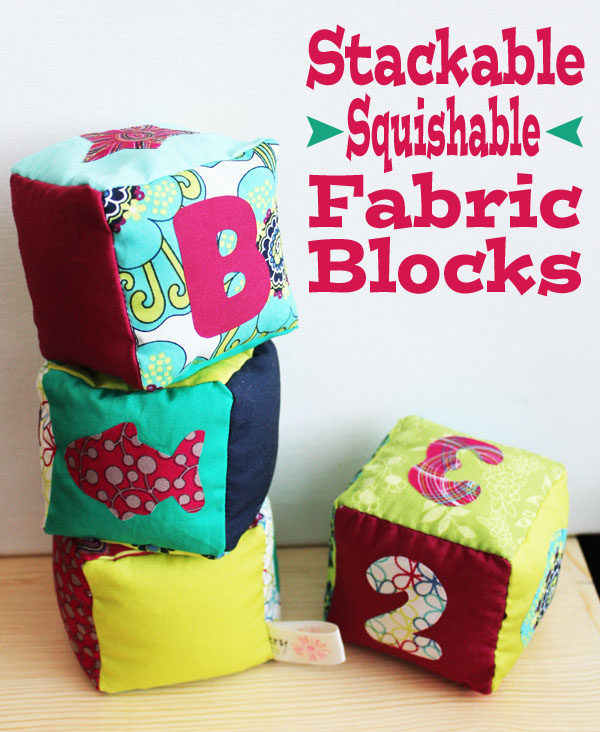 Stackable squishable fabric blocks