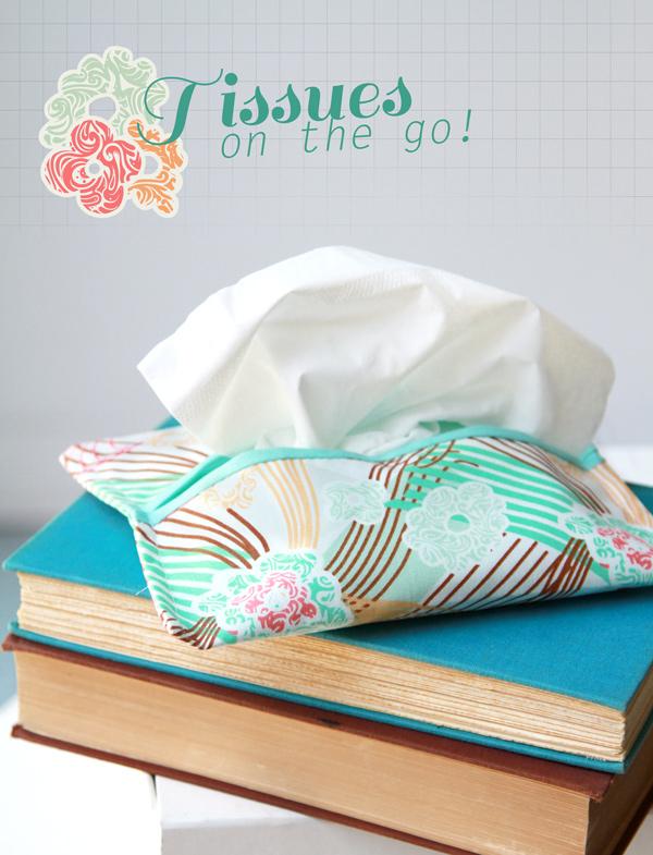 Sews Up Quick: A Portable Tissue Holder - Art Gallery Fabrics - The Creative Blog