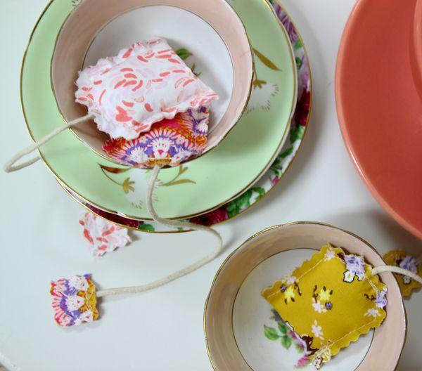 A Sip of Tea, Scented Tea Sachet Tutorial - Art Gallery Fabrics - The Creative Blog
