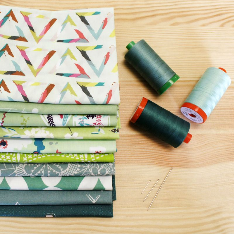 Art Gallery Fabrics_green fabric bundle