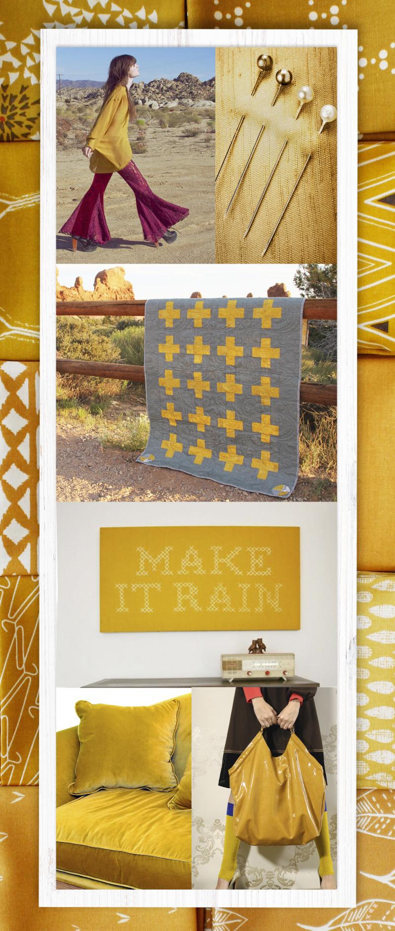 Mustard-fabric
