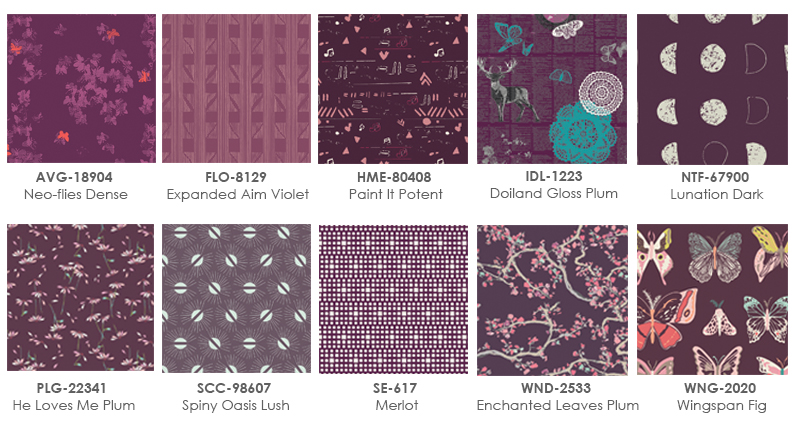 Home Decor Or Maybe Glamorous Plum Garments For Yourself Here Are A Few Prints From Some Agf Fabric Collections That We Chose This Color Fun