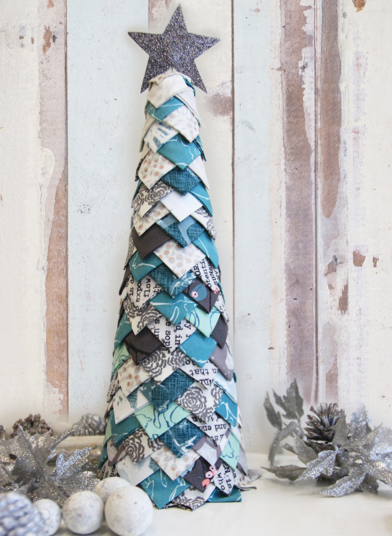 Fabric Christmas tree - fun no-sew tutorial - Art Gallery Fabrics ...