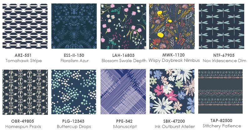 Navy blue Fabrics graphic1