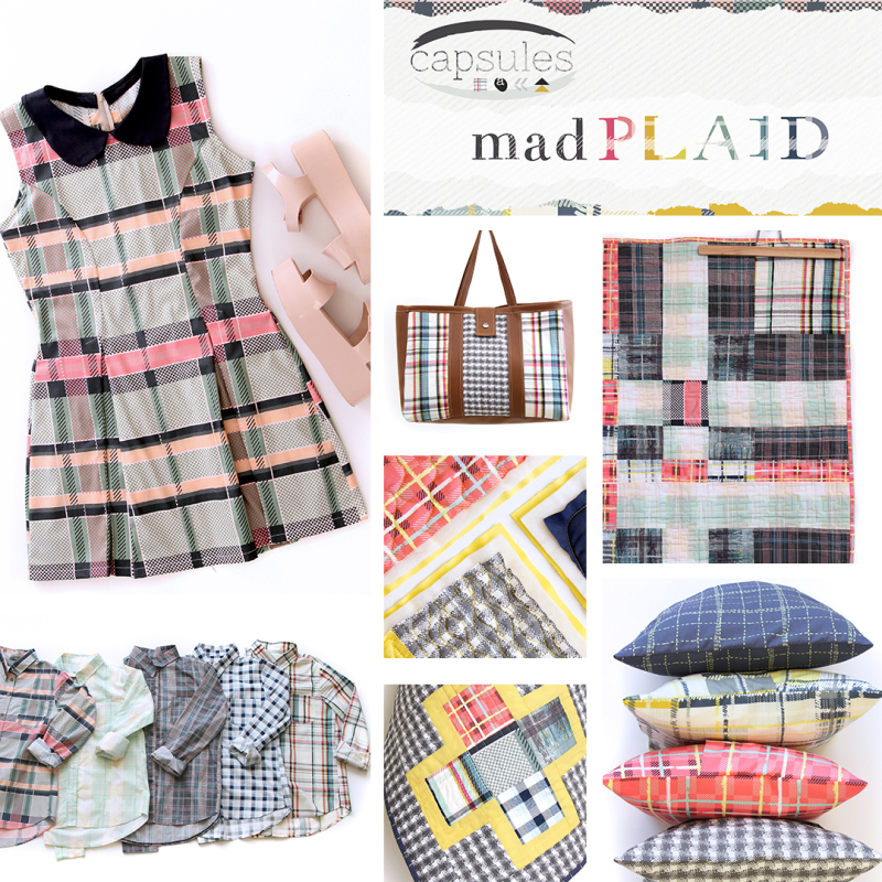 Mad Plaid collage template