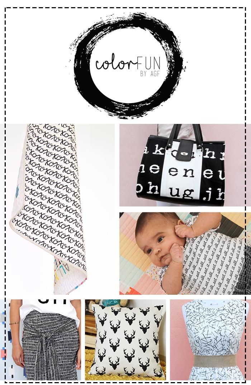 ColorFun collage black and white
