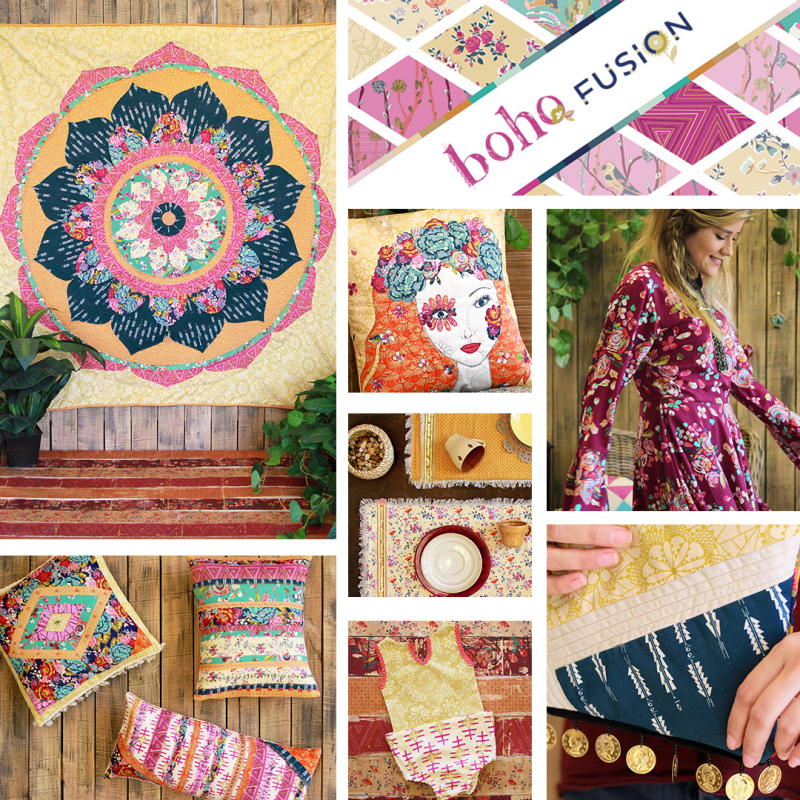 Boho collage template