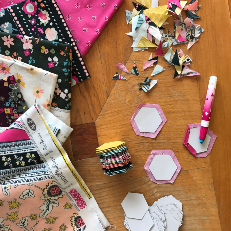 Indie Boheme Fabrics and English Paper Piecing