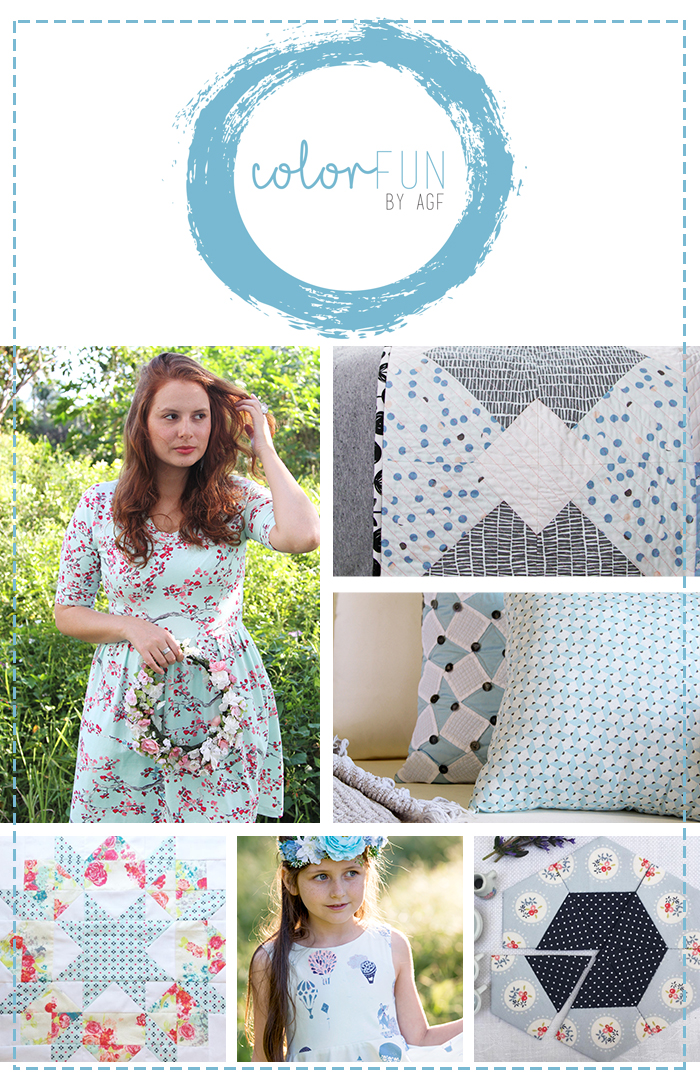ColorFun collage baby blue