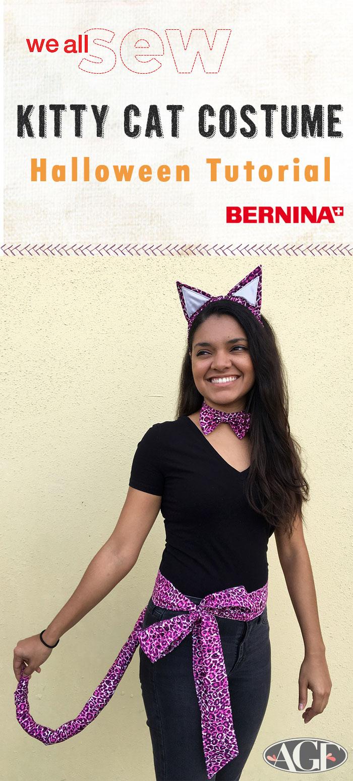 diy halloween kitty cat costume - art gallery fabrics - the creative