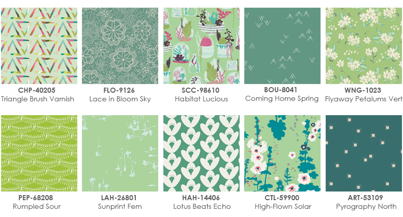 Art Gallery Fabrics_Colorfun_April_Green Fabrics_2
