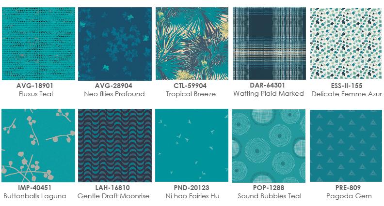 Teal-fabric-prints