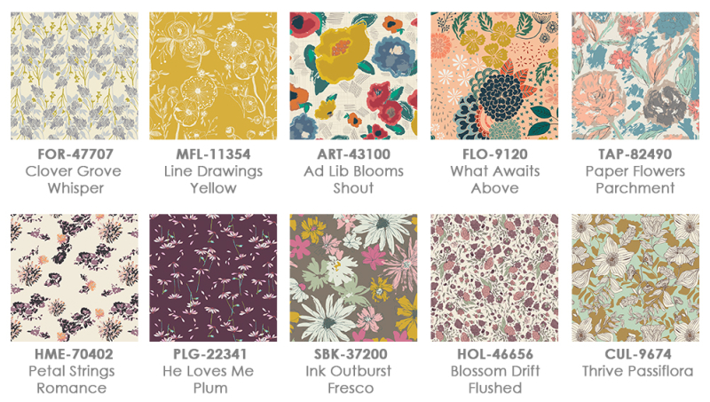 Floral swatches