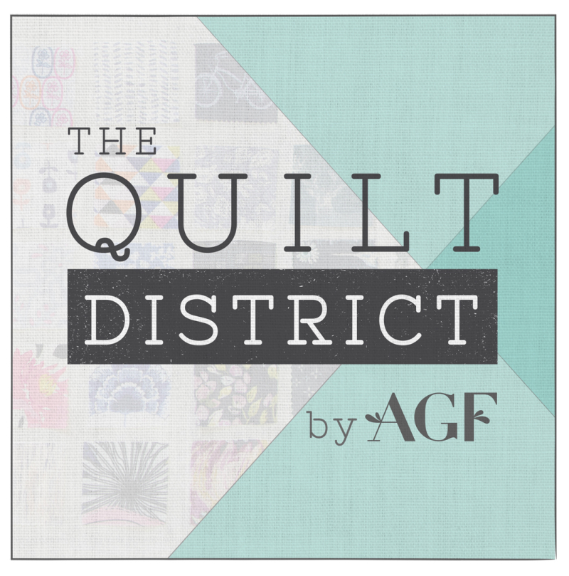 The quilt district graphic