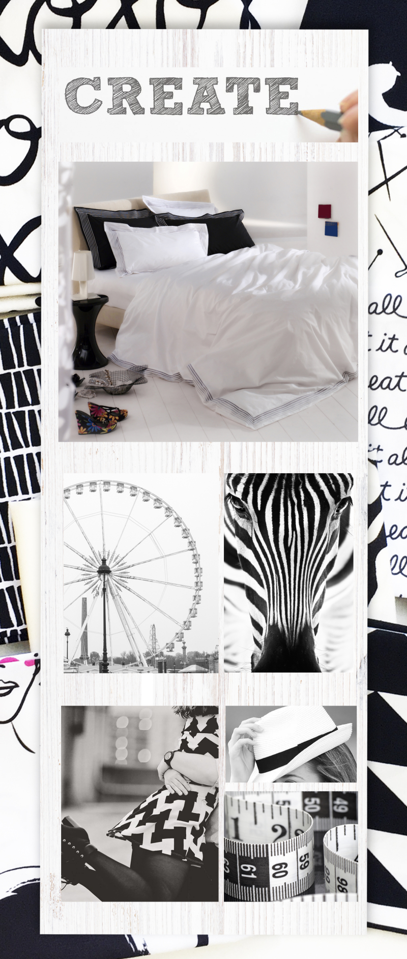 Mood board on pics-black-andwhite