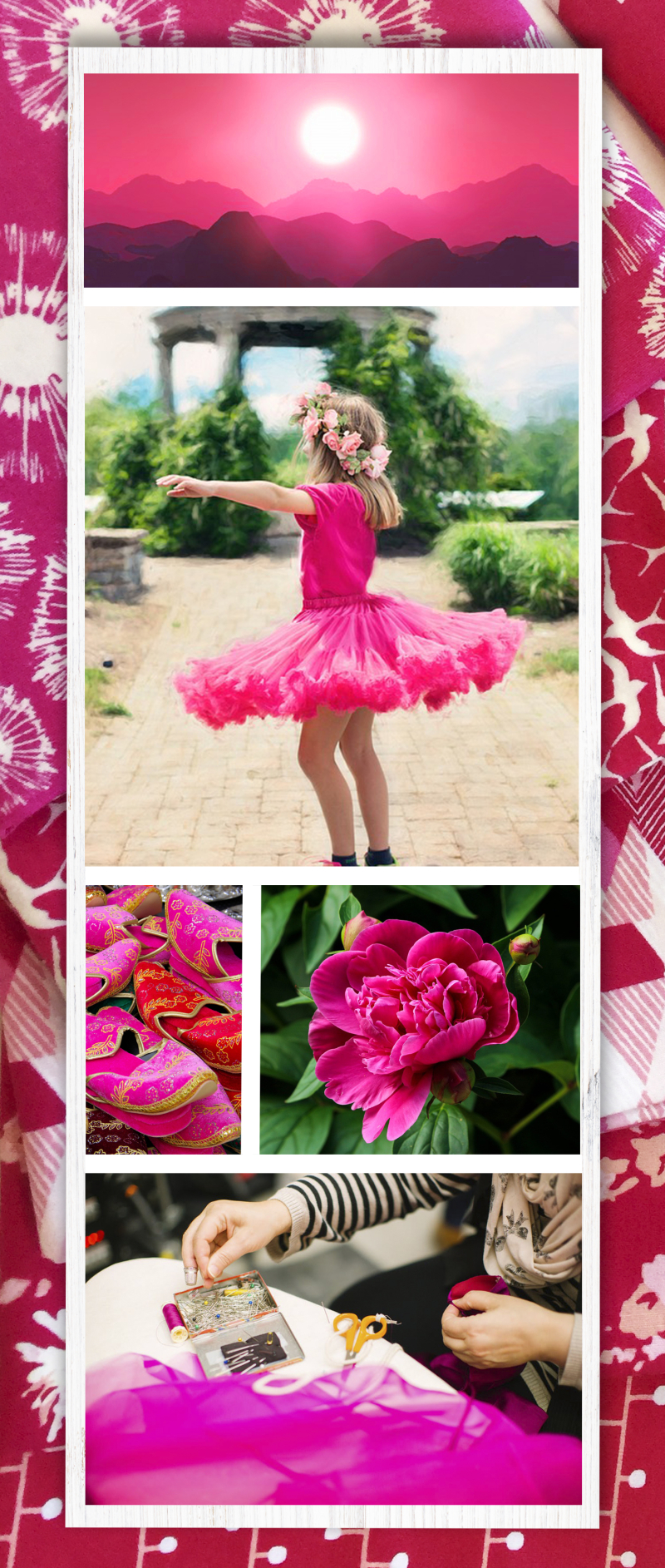 Mood board on pics-fuchsia