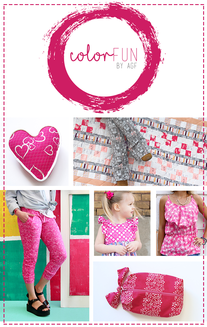 Pink color fun collage