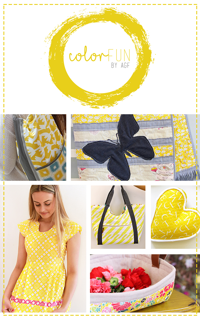Yellow color fun collage
