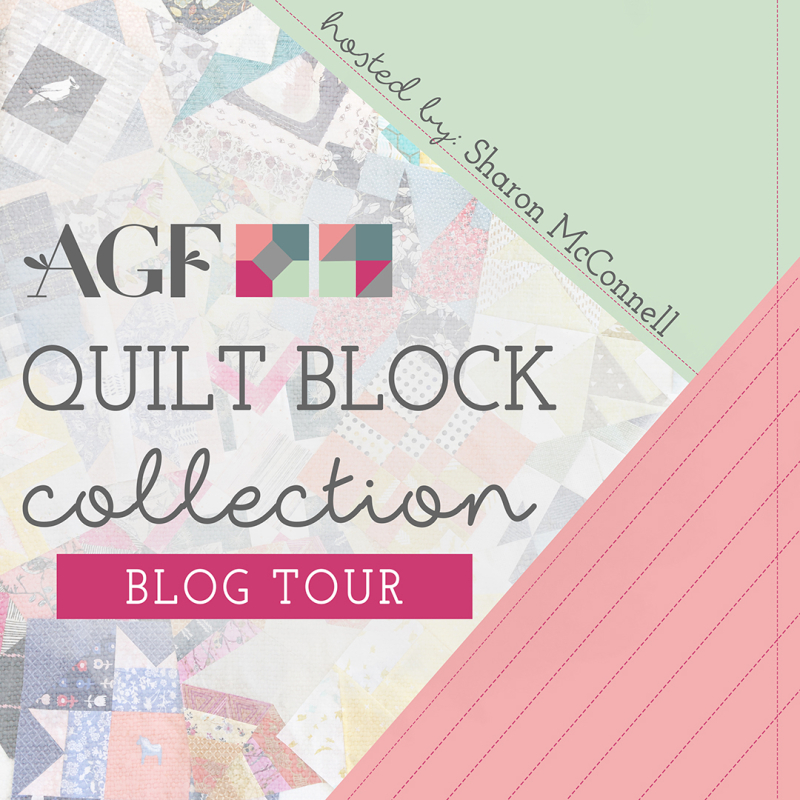 Quilt block collection tour graphic