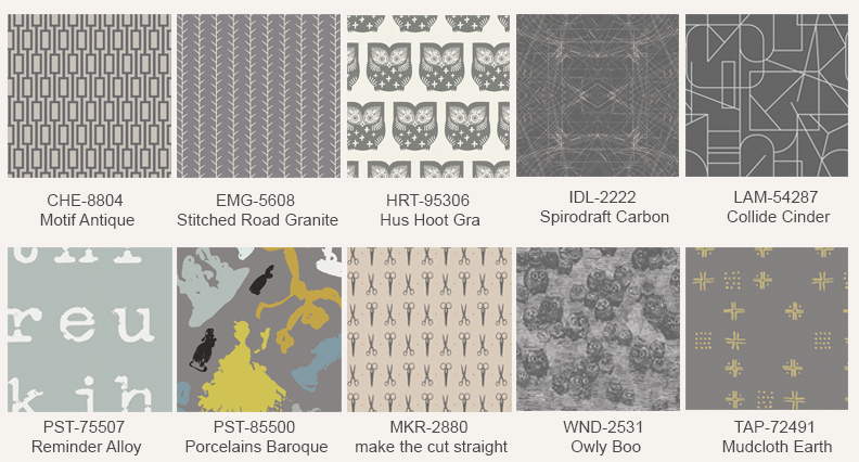 Gray-fabric-prints