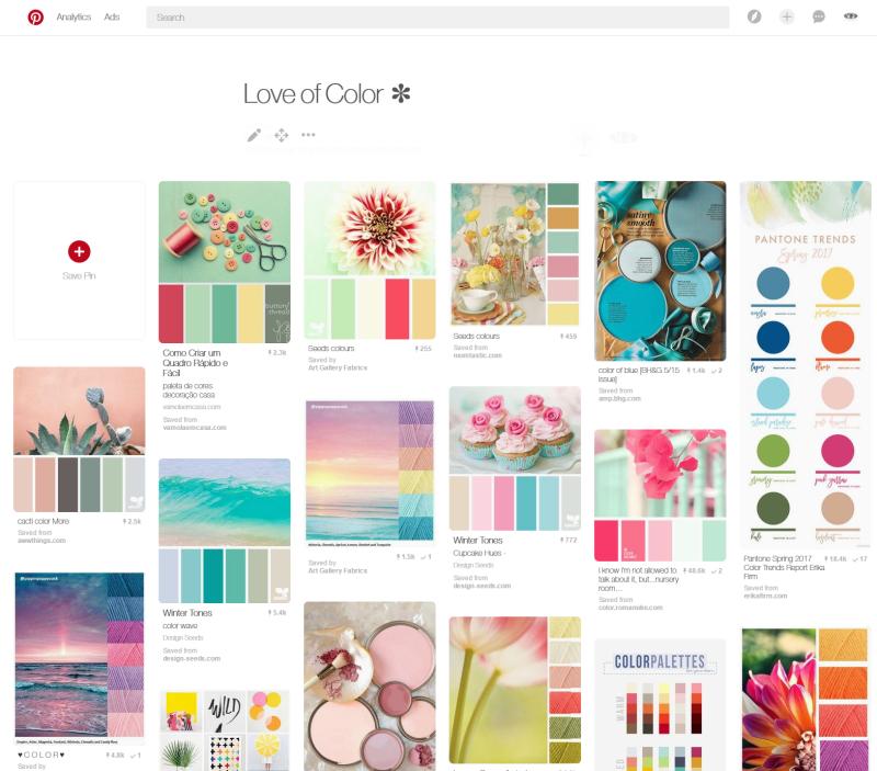 Love of color board