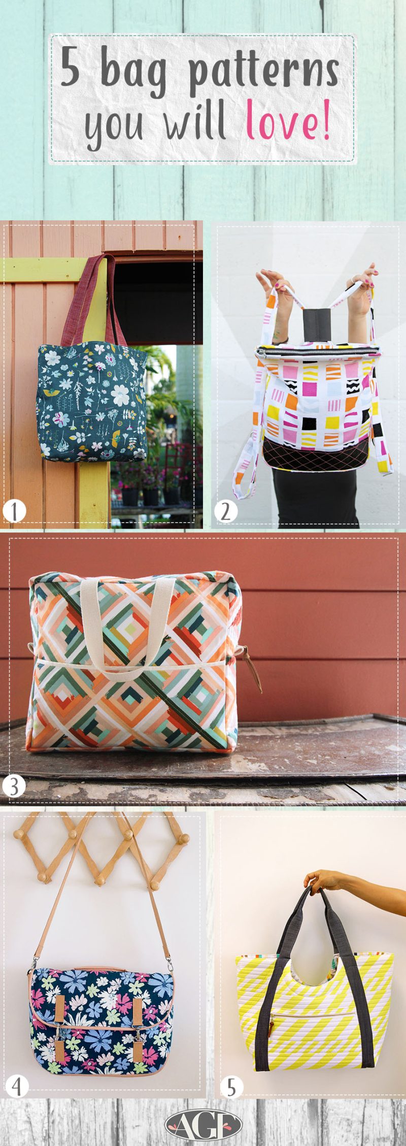 6 bag patterns you will love
