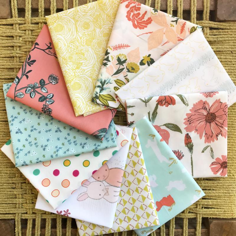 Spring fabrics circle