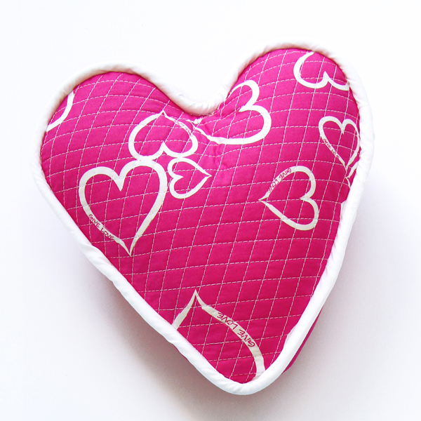 Heart pillow square