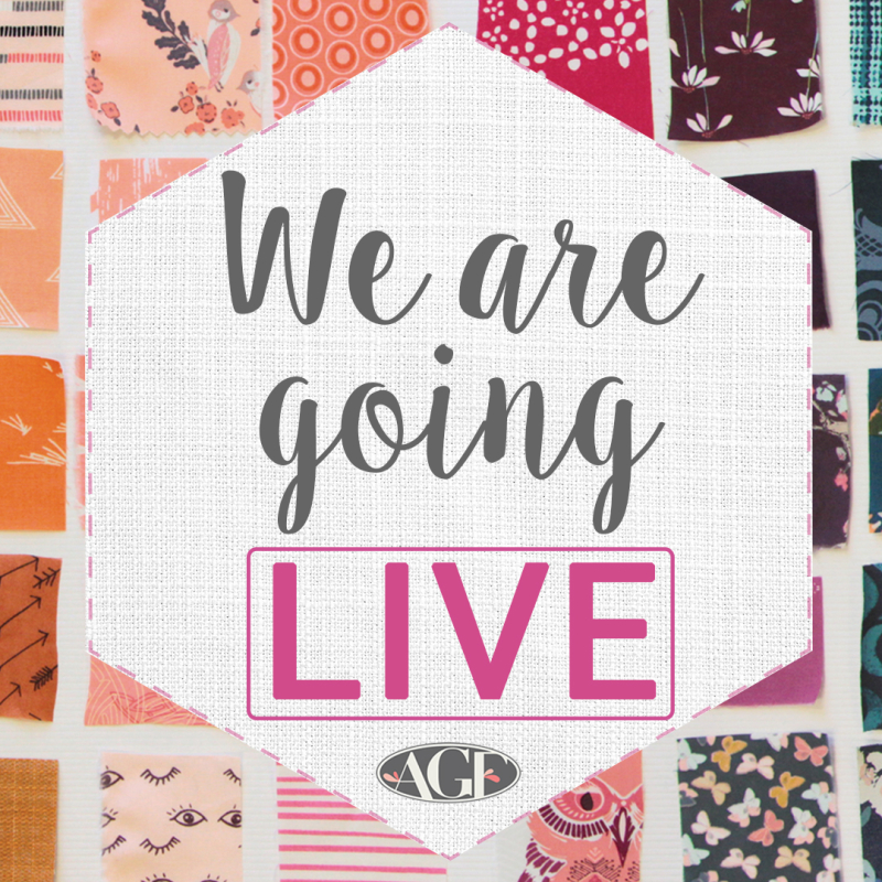 We are going live quilt con 2