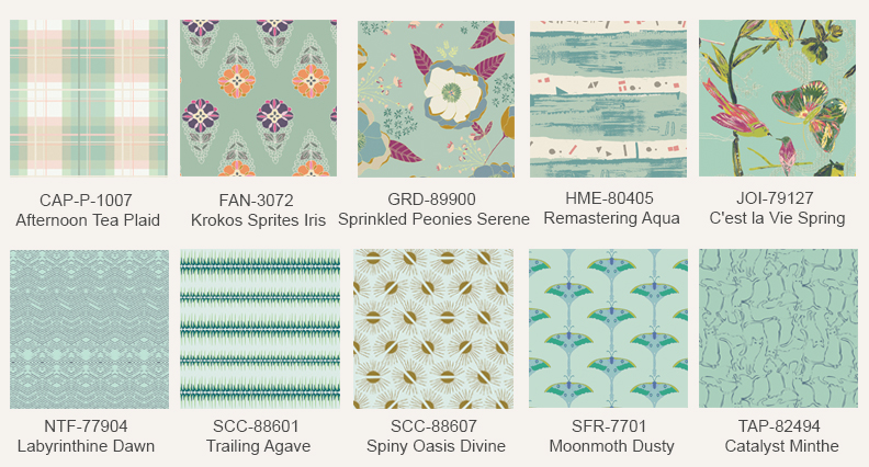 Mint-fabric-prints