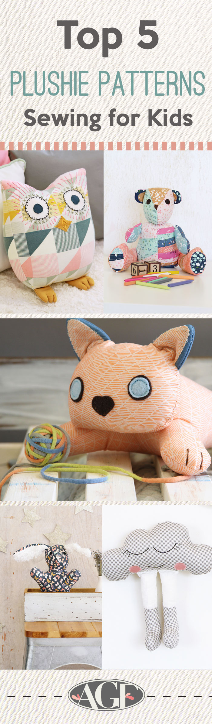 Pinterest-Plushies- Sewing Patterns for Kids