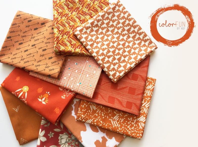 Rustic orange fabrics witth lofo
