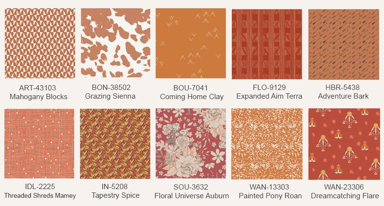 Rustic-orange-fabric-prints