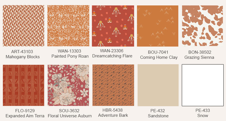 Rustic-orange-fabric-prints