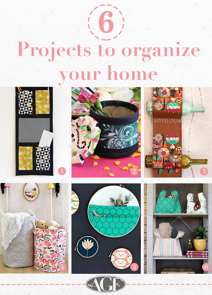 6 projects to stay organized graphic