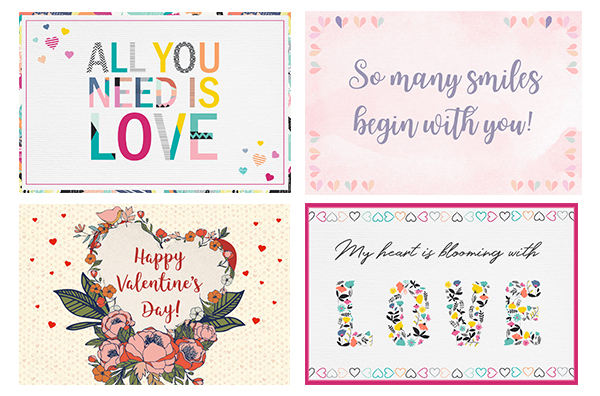 Valentine's cards options