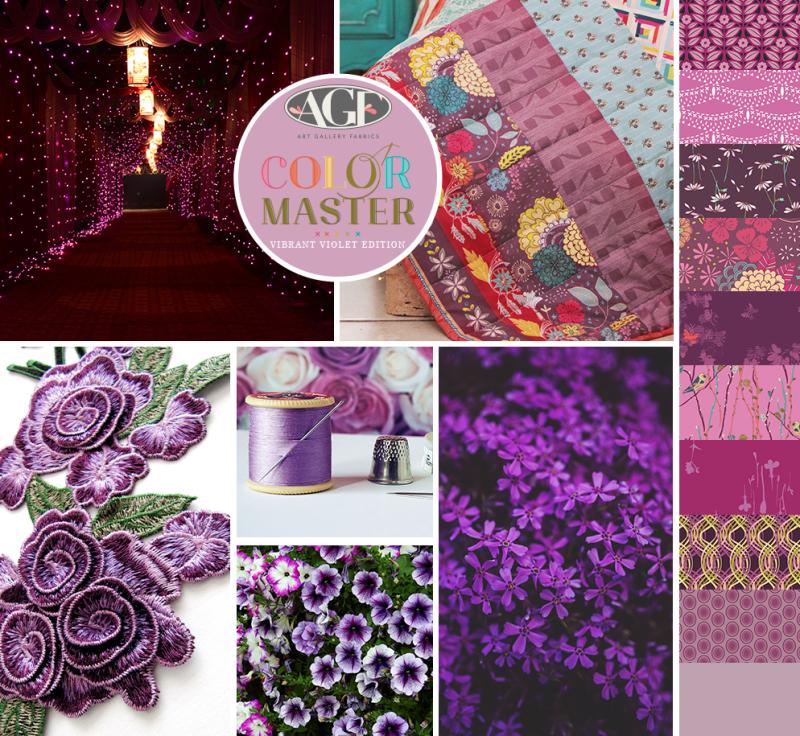 Vibrant Violet color mood board
