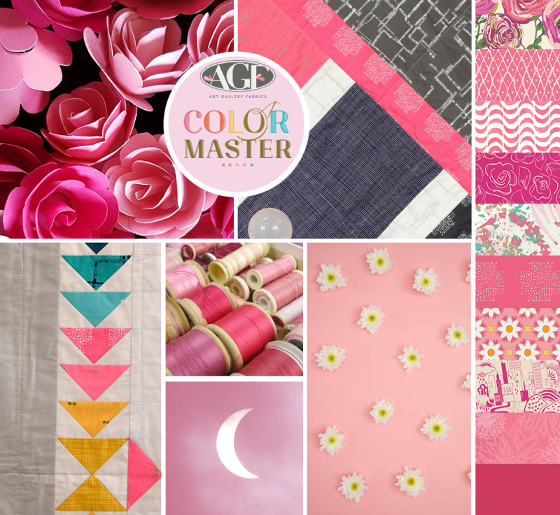 Life is pink color mood board
