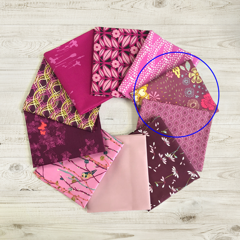 Vibrant violet wheel circle