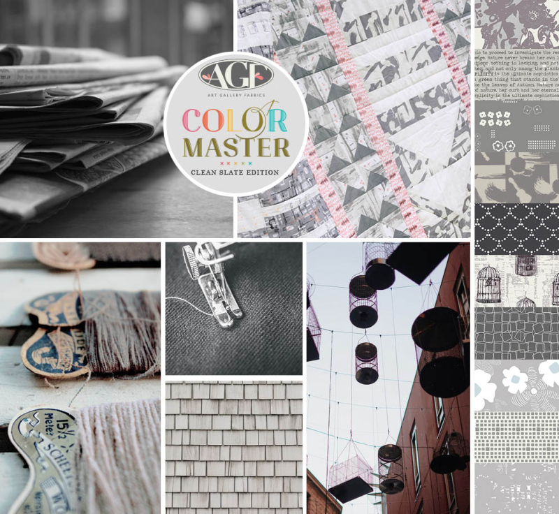 Clean slate color mood board