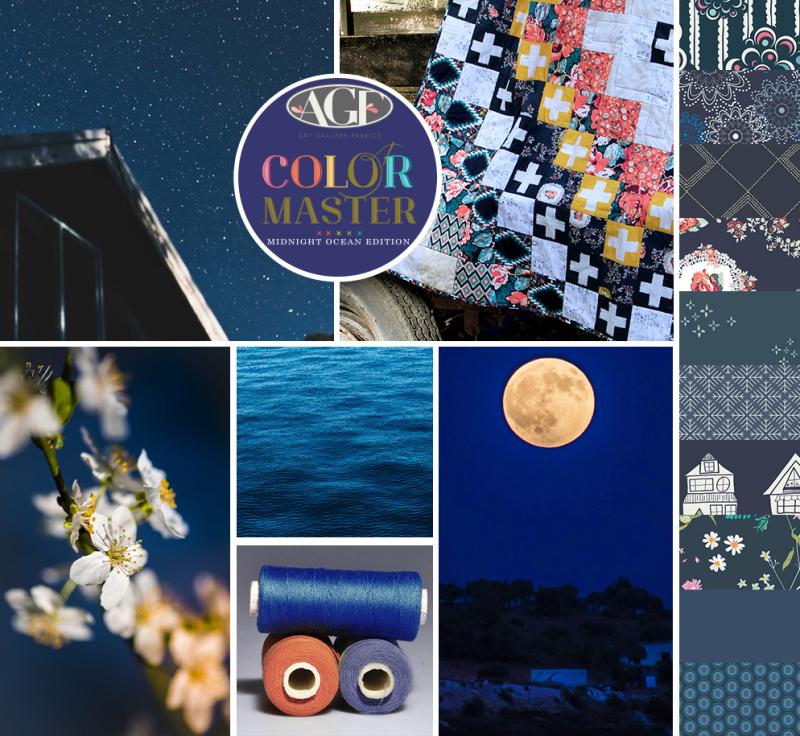 Midnight Ocean color mood board
