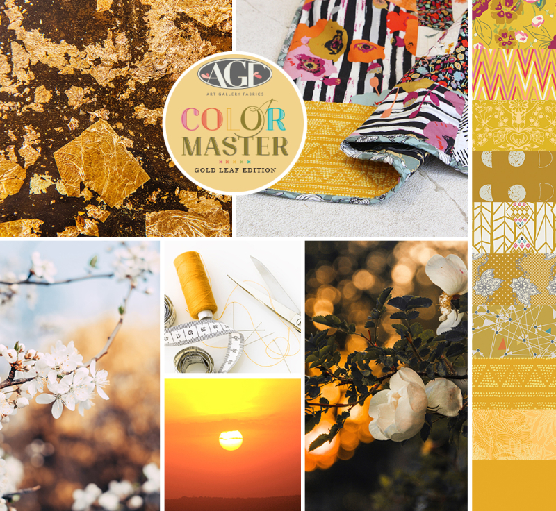 Gold Leaf color mood board