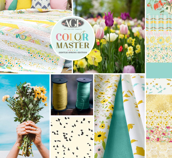 Color master gentle spring  edition cotton fat quarter bundle by Art Gallery B  FQ116