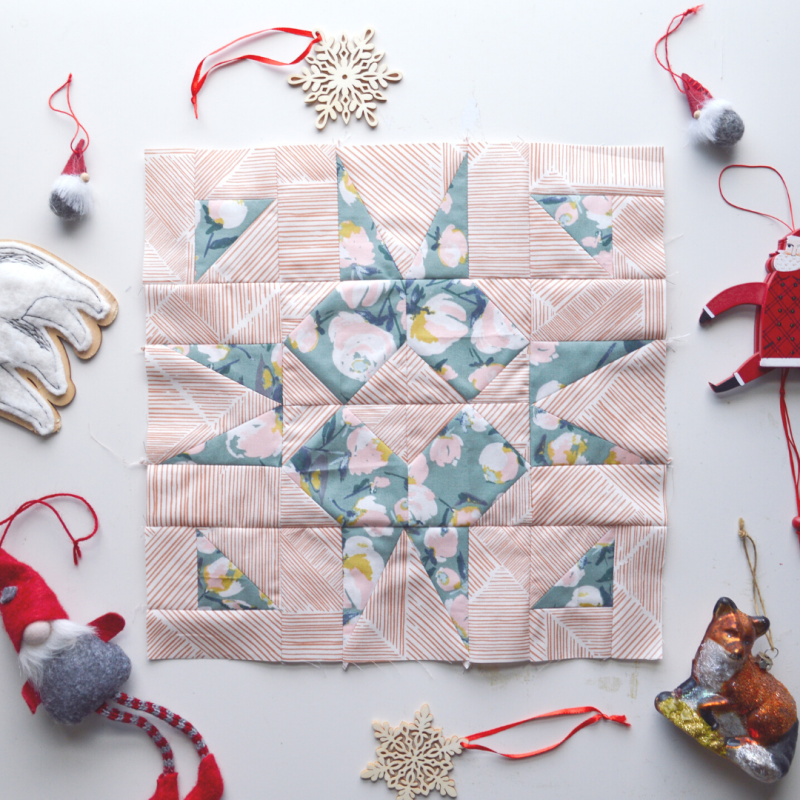 Quiltmas Day 11 Wax and Wane Studio What's This Quilt Block