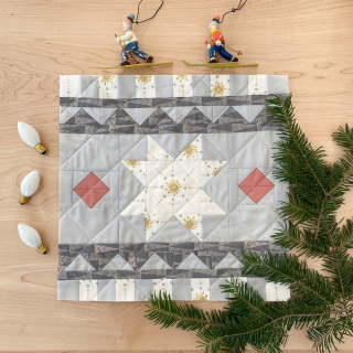 Quiltmas Day 8 Smith's General Winter Warmer Quilt Block