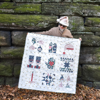 Quiltmas Broadcloth Studio 9 patch sampler quilt