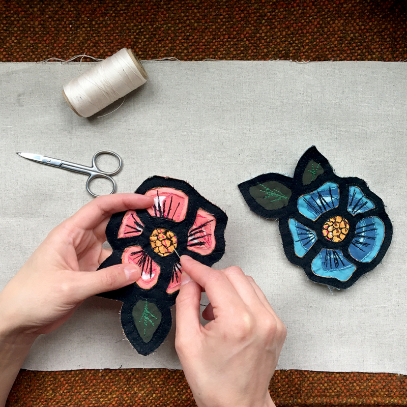 Reverse applique flower tutorial copy